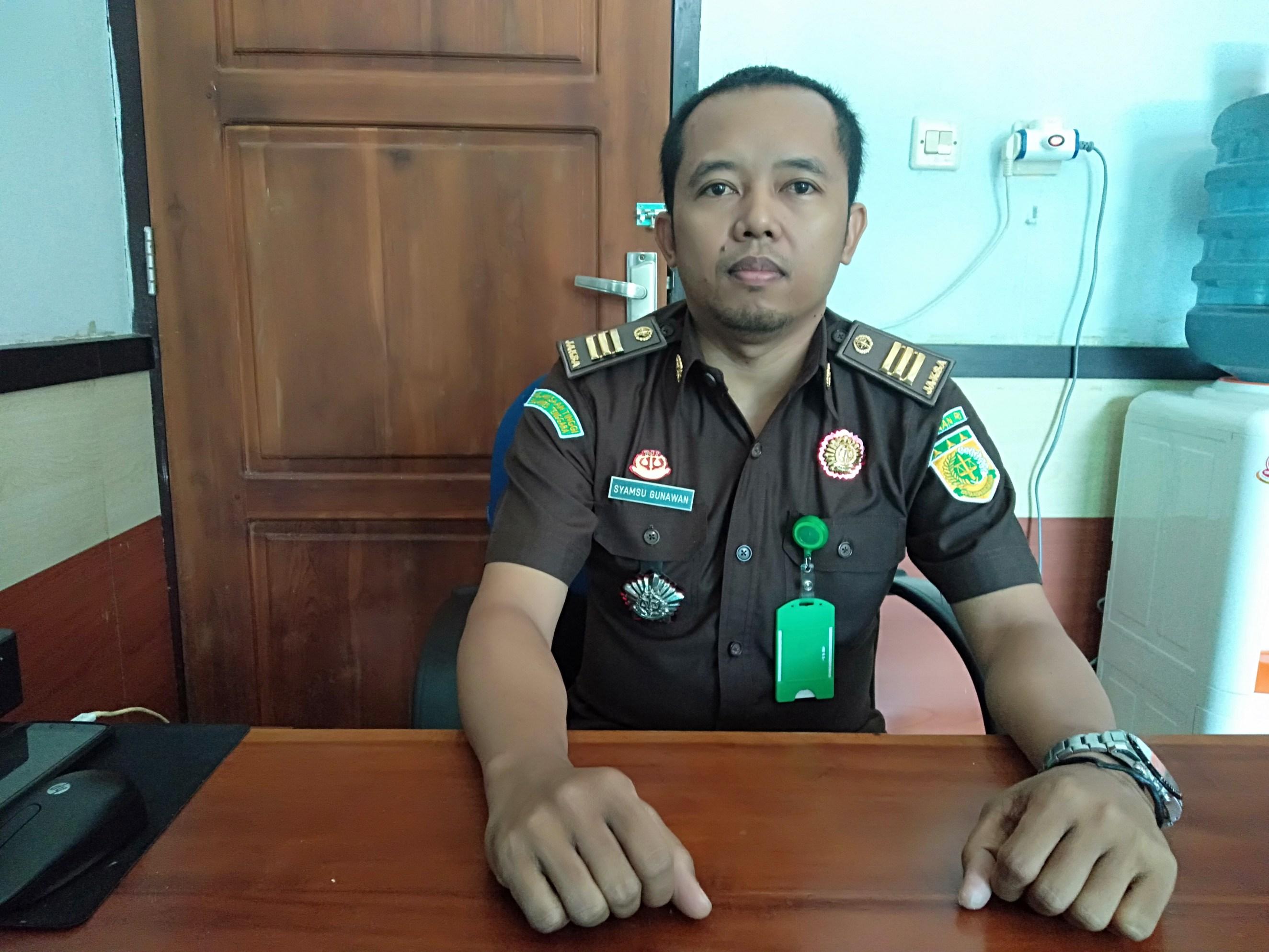 Ketgam : Kepala Seksi Intelijen Kejari Konsel Syamsu Gunawan,SH