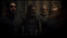 Kal Sabir as The Laird of Ramorny (centre) in 'Mary Queen of Scots'