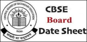 CBSE Board Exam Date 2019