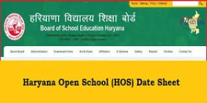 Haryana Open School Date Sheet 2019
