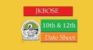 JKBOSE Exam Date Sheet 2019