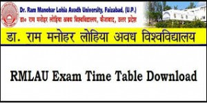 Dr RMLAU BSc Time Table 2019