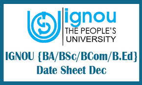 IGNOU Date Sheet December 2018-19