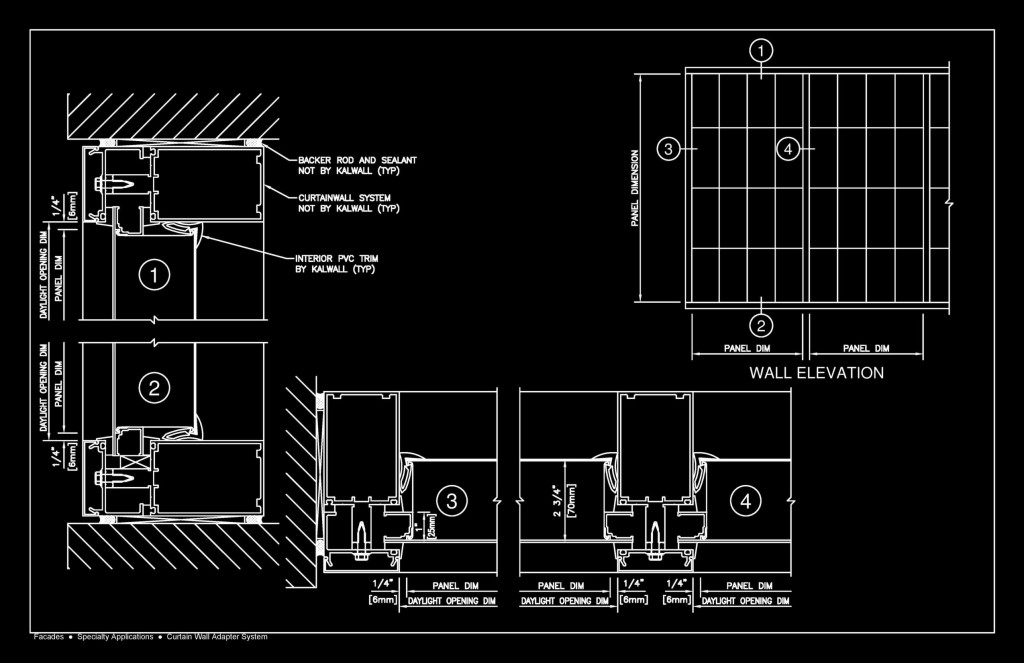 Curtain Wall Detail Cad Block | Abahcailling co