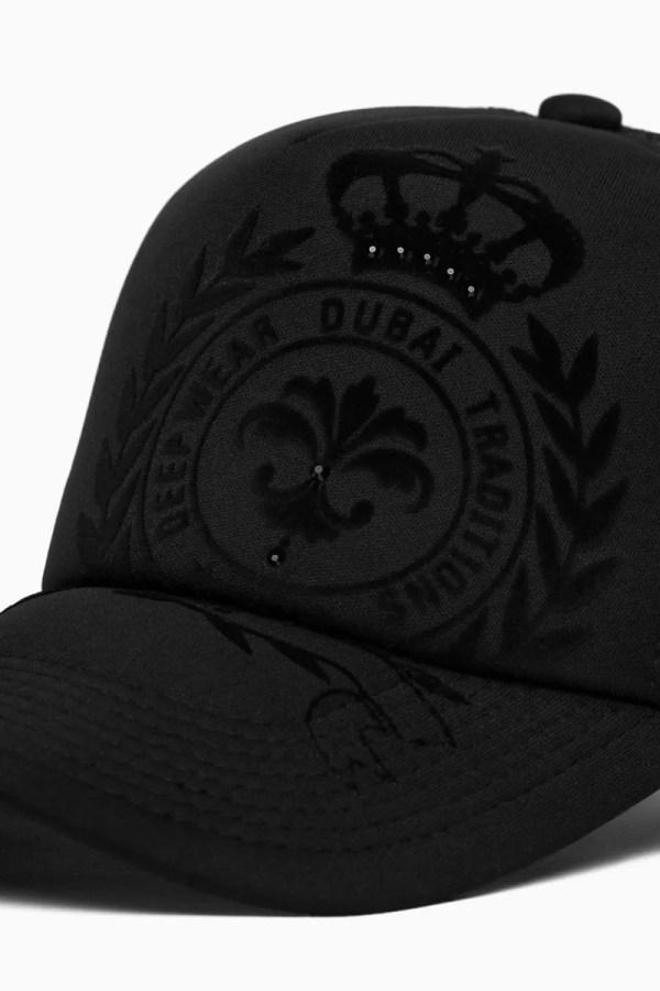 Kalybre Velvet Black Baseball Cap