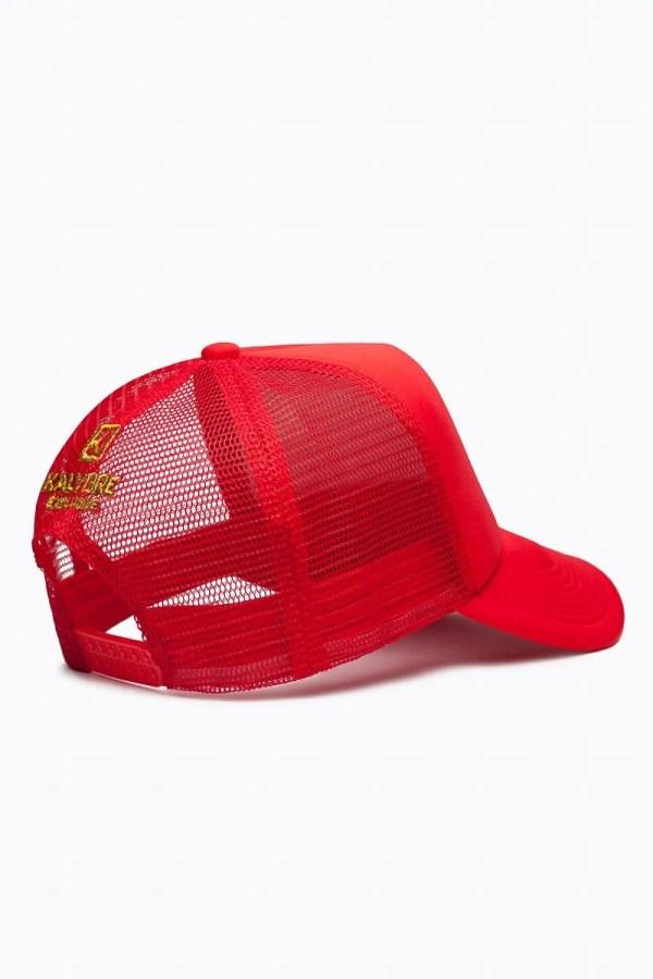 Kalybre Red Baseball Cap with Gold