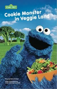 Book cover: Cookie Monster in Veggie Land