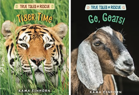 Tiger Time and Go, Goats book covers