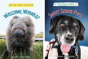 Welcome, Wombat and Sweet Senior Pups book covers
