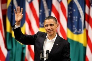 Imagen saludando del presidente estadounidense, Barack Obama