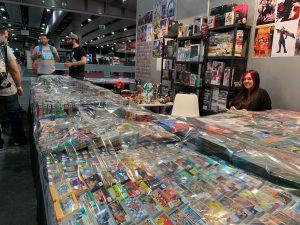 Imagen de vendedores de videojuegos antiguos en Madrid Games Week/EFE/CELIA SIERRA