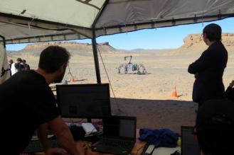 El último experimento, desarrollado a principios de diciembre, consistió en probar la autonomía del astromóvil bautizado como Sherpa TT. EFE/ Mohamed Siali.