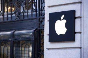 Imagen de una tienda con el logotipo de Apple