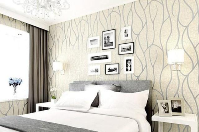 Wallpaper kamar tidur garis