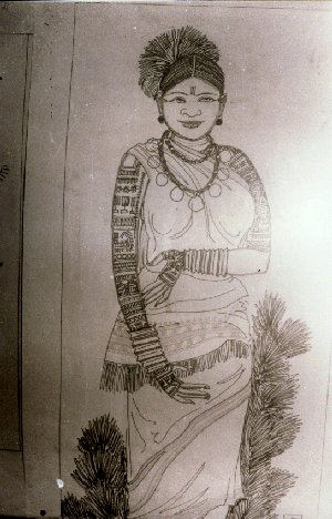 Tribal Tattoo Tattoo of a Tribal Woman Illustration by Artist Jha at the