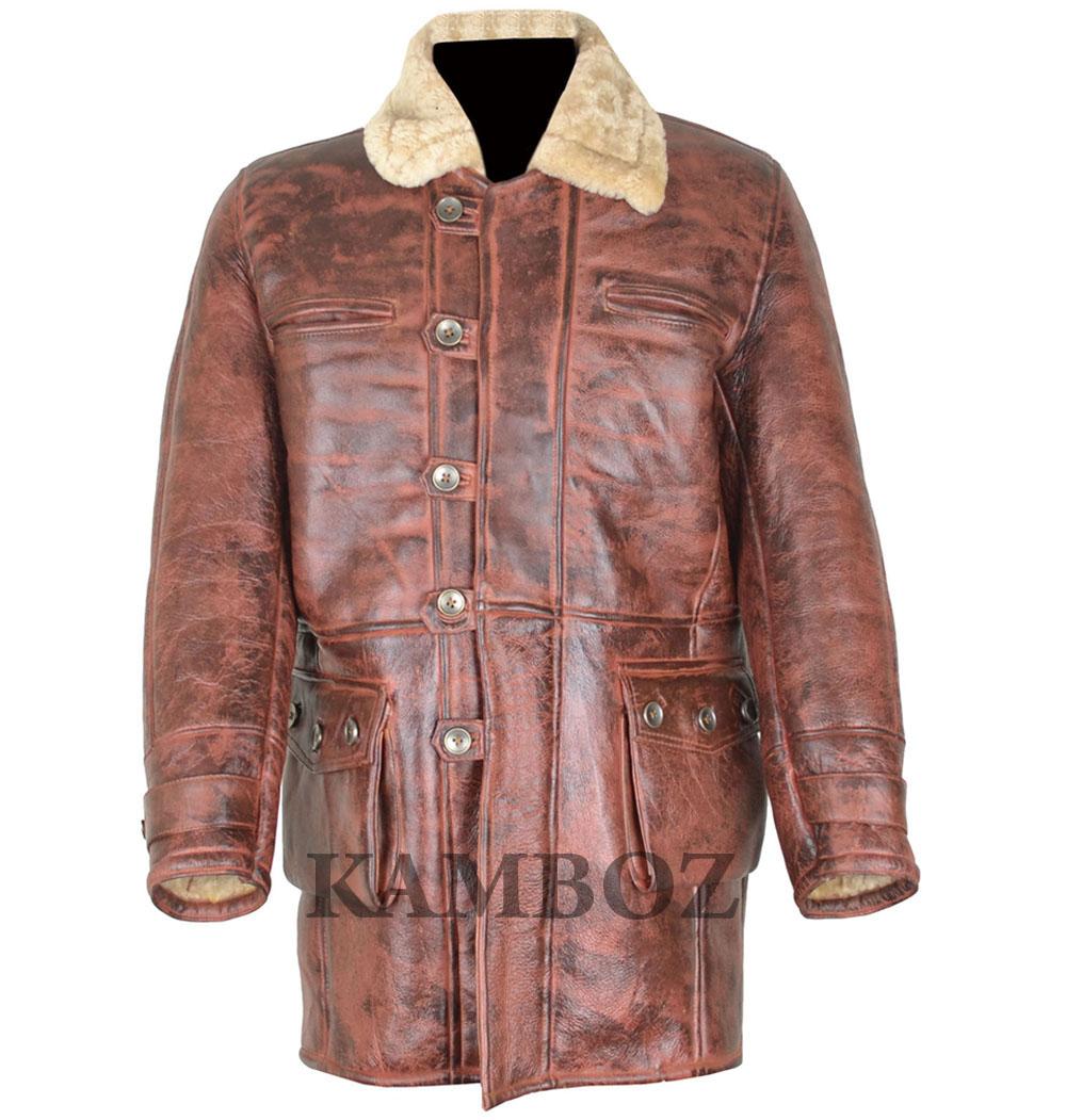 Mens Sheepskin Coat >> Shearling Brown Sheepskin Coat Mens Bs6