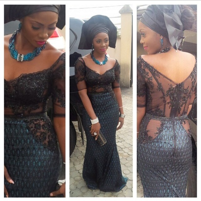 @officialtiwasavage in @phunkafrique design, gele by @davesucre