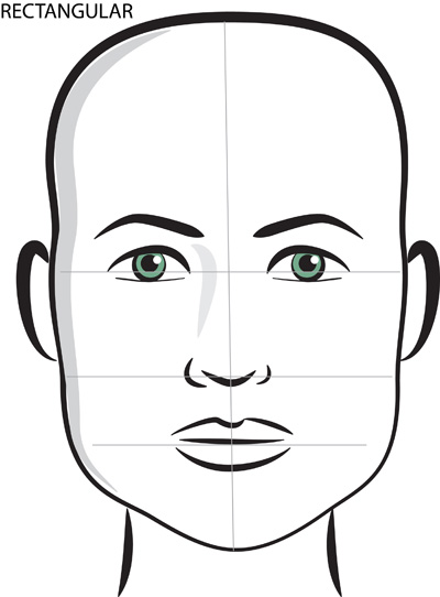 rectangular face