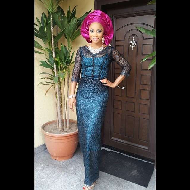 Toke makinwa in an outfit by @tads_