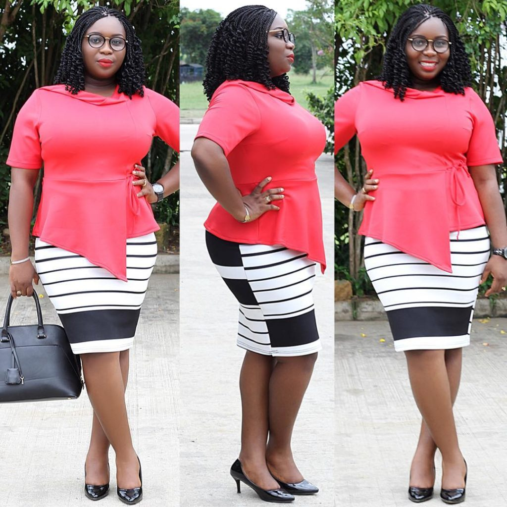 Look 4: @umycutie perfectly matches red and monochrome. Monochrome is such a beauty!