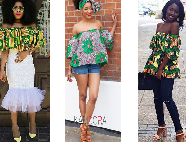 Ankara Styles #122: Off-Shoulder Ankara Tops