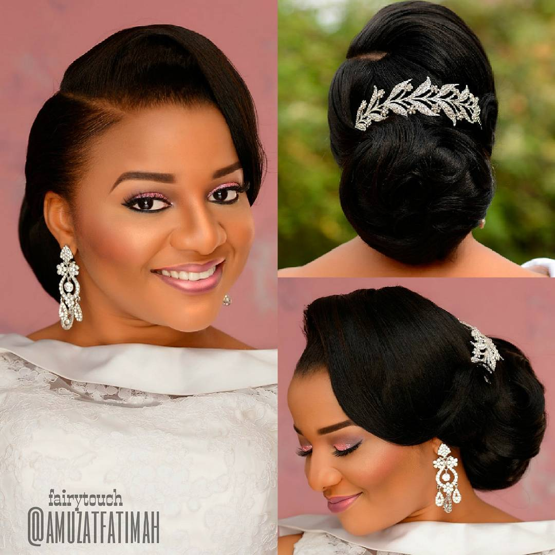 Wedding Hairstyles Photos: 16 Gorgeous Wedding Hairstyles For Nigerian Brides By Hair