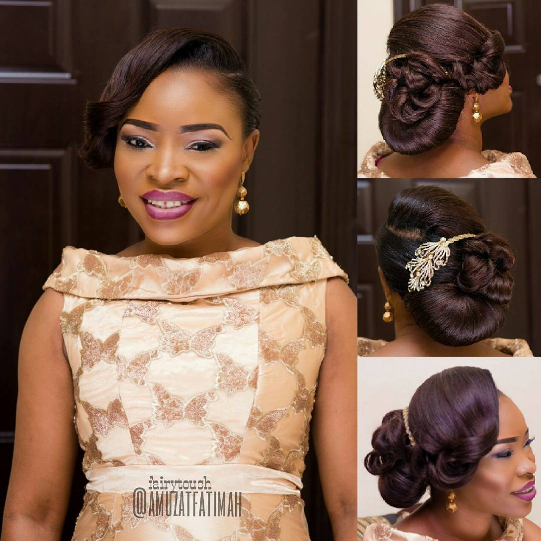 Modern Wedding Hairstyles For The Cool Contemporary Bride: 16 Gorgeous Wedding Hairstyles For Nigerian Brides By Hair