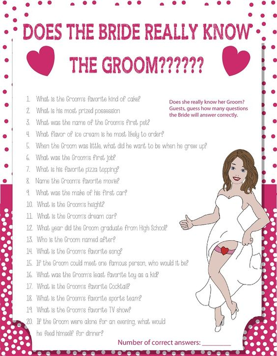 bridal shower quiz below groom game