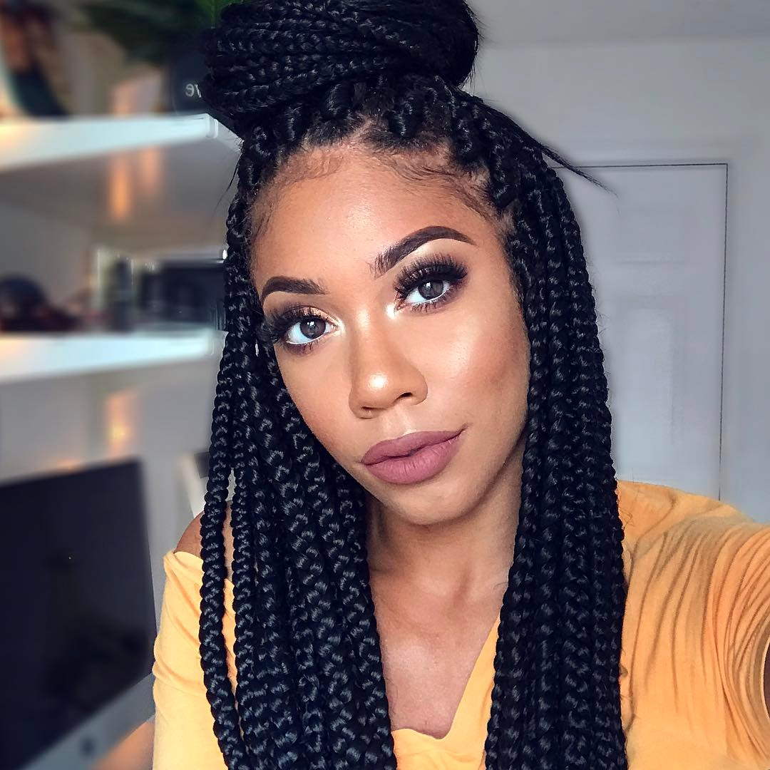 12 Quick Amp Easy Ways To Style Your Box Braids Kamdora