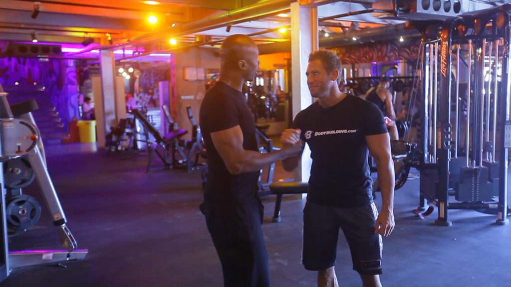 Kayode with ronowned fitness & strength coach Dan Harrision