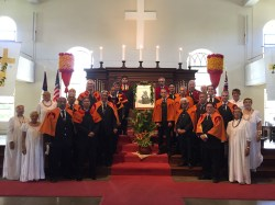 Annual group portrait in Kawaiaha'o Church.