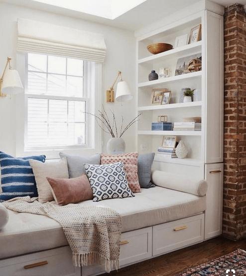 kleine kamer boekenkast