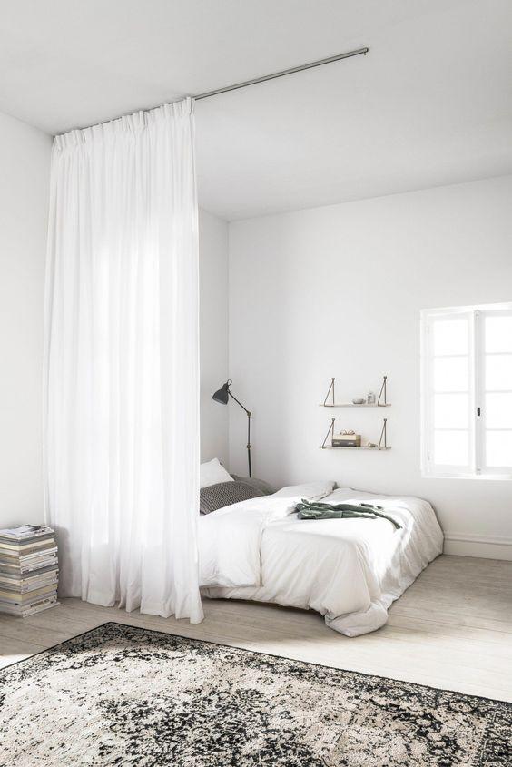 minimalistische studentenkamer