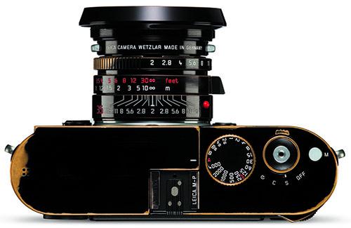 SLITT PÅ FORHÅND: Dette Leica-kameraet blir kanskje ikke slitt noe mer etter at det er blitt solgt. (Foto: Leica)