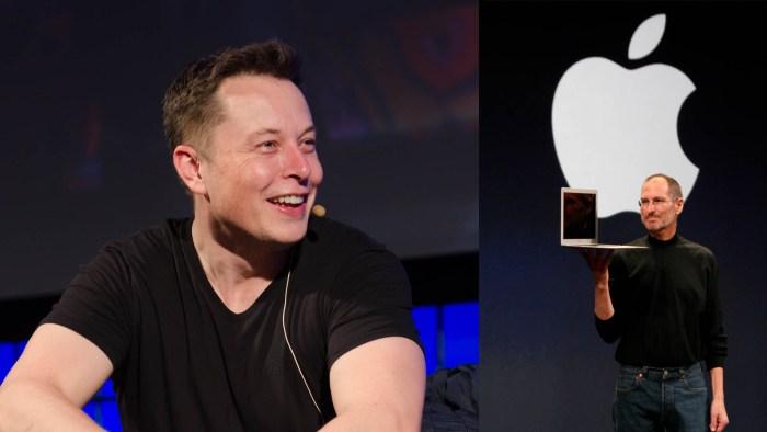 Elon Musk Steve Jobs