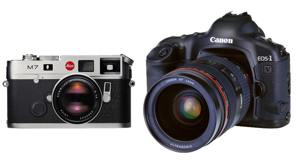 Leica M7 Canon EOS-V1