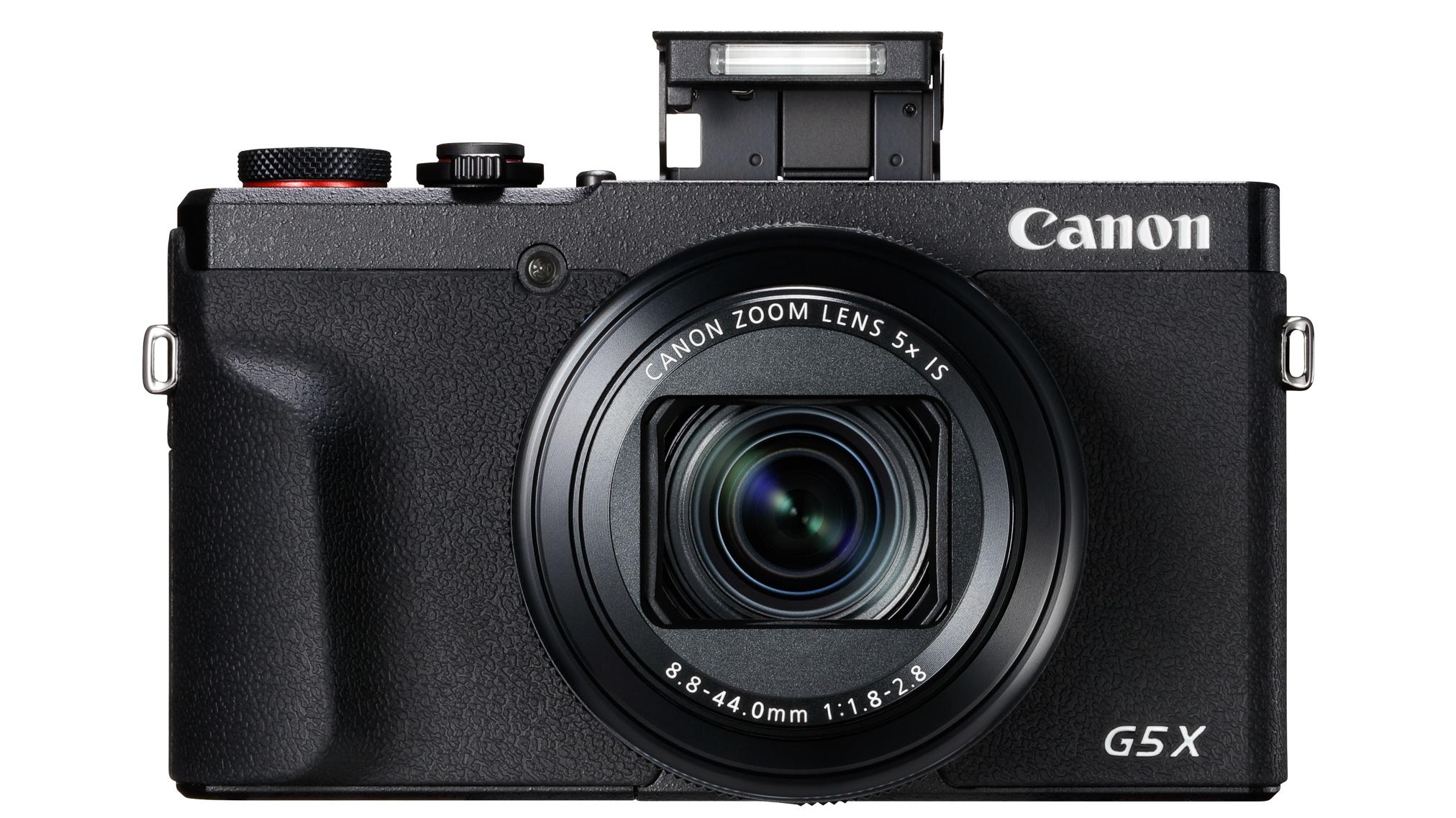 PowerShot G5X Mark II Flash Up BK FRT-Edit