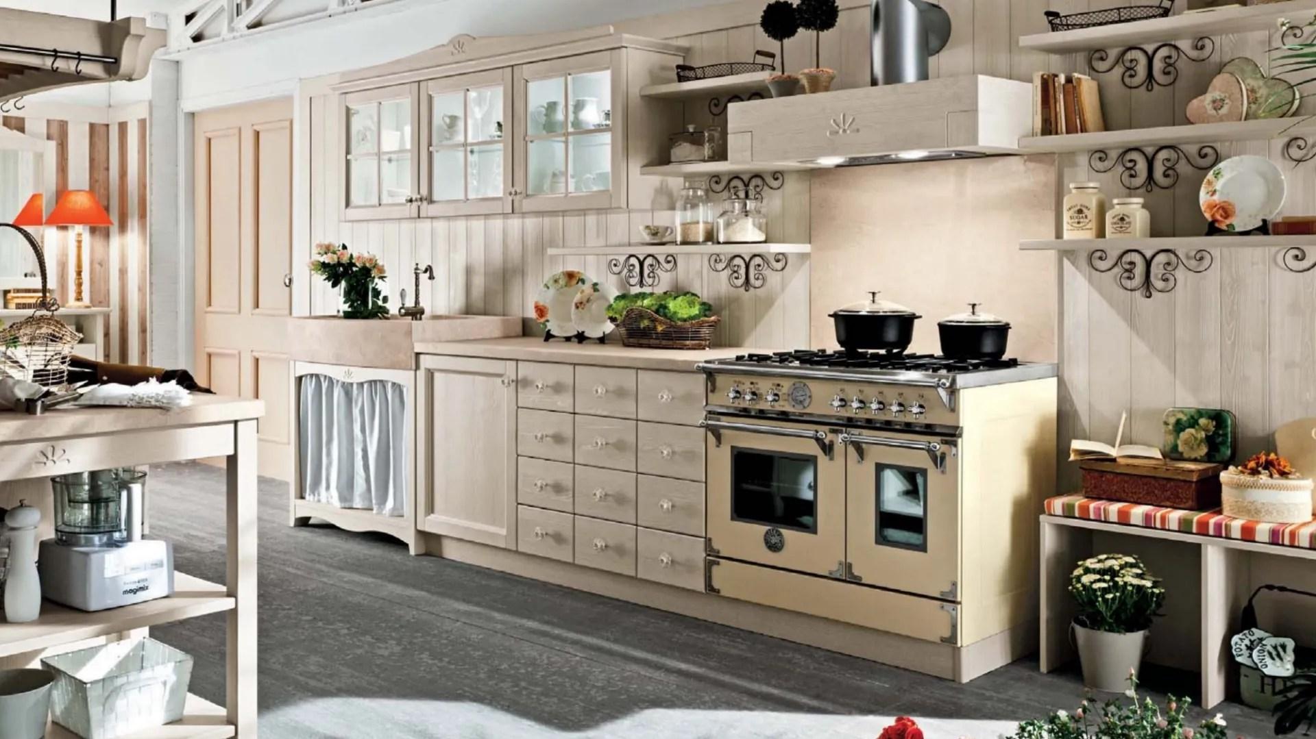 Il nostro catalogo permette di ordinare tutti i mobili: Cucina Shabby Chic In Legno Every Day 01 Di Callesella