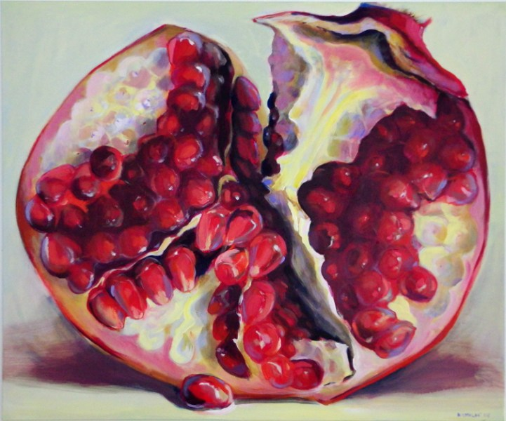 Pomegranate paintings by Kamille Saabre