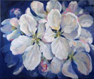 lillemaalid, Painted apple tree blossoms