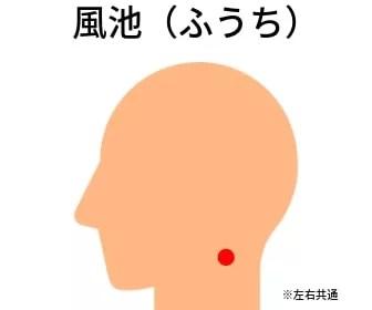 頭皮のツボ:風池(ふうち)