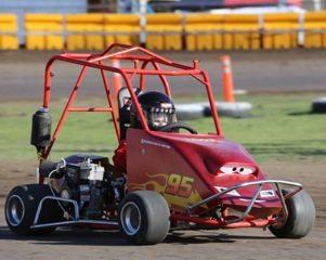 New driver Noah at the Short Track Shootout
