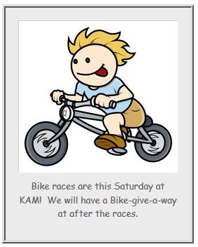 Bike Races this Saturday