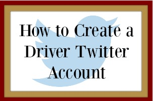 How to create a Twitter driver account