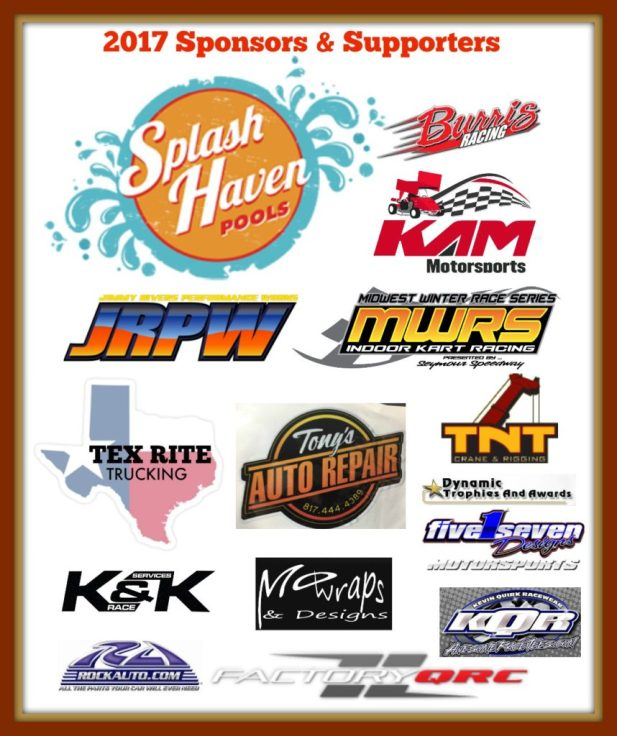 2017 KAM Kartway Sponsors and supporters