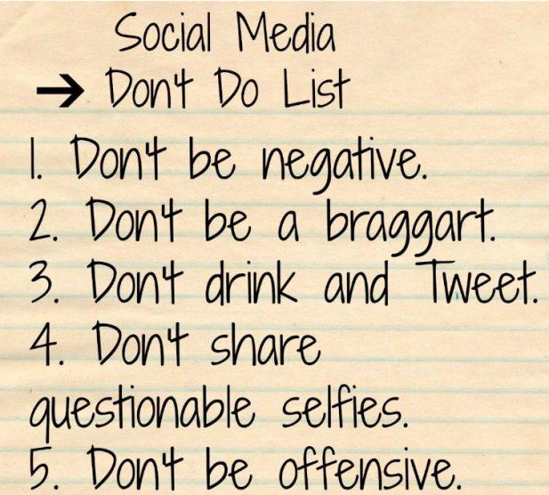 Social Media Don't List image