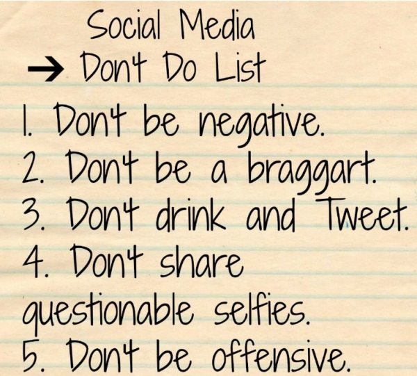 Social Media Don't List image