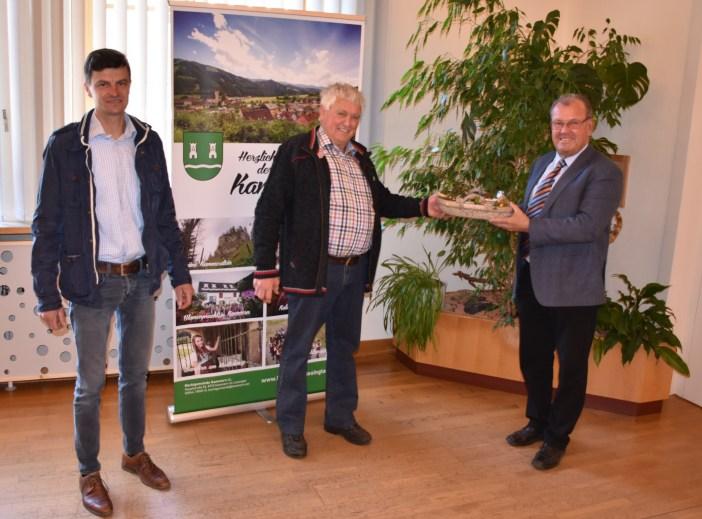 Örtlicher Vertreter der Grundverkehrskommission (v.l. Ing. Siegfried Steinegger, Hubert Zötsch, Bgm. Karl Dobnigg)