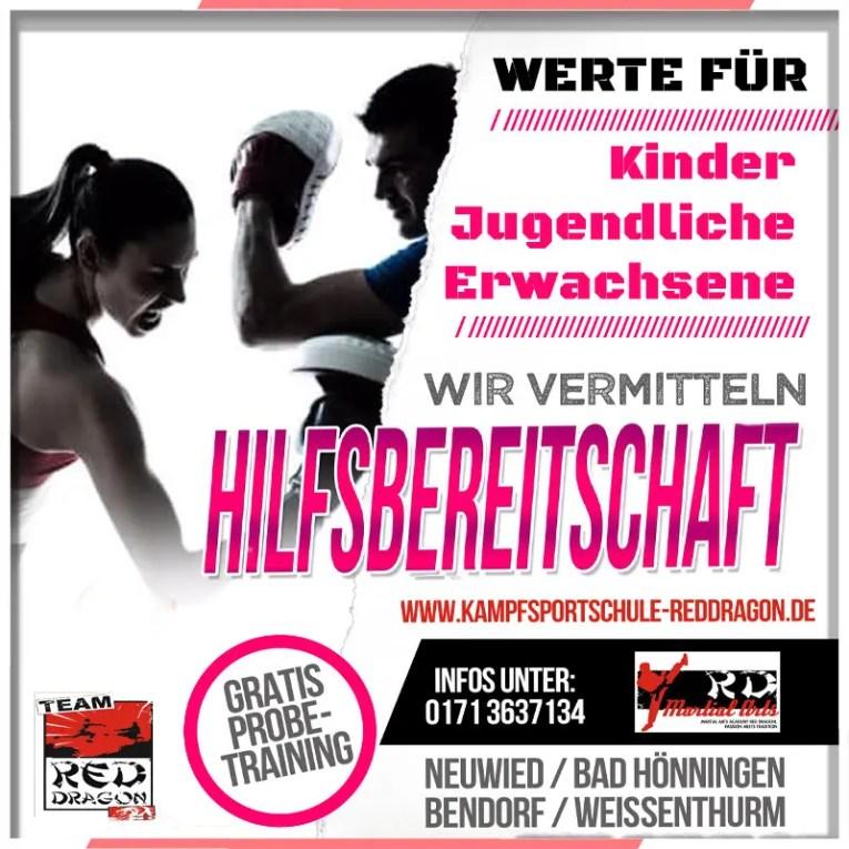 HILFSBEREITSCHAFT -Kampfkunst Thema Okt 2020 Erw