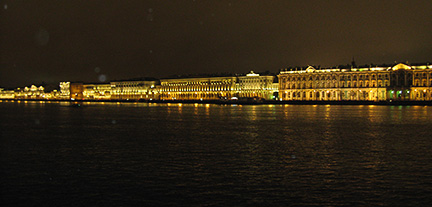 St Petersburg, Russia, at night